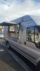 Mobile catering van/ Food truck/ food van, Ford Transit 350 LWB MOT expire 8th October