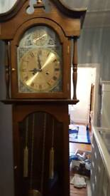 Long face grandfather clock
