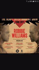 ROBBIE WILLIAMS TICKETS X2 ETHIAD STADIUM SATURDAY 3RD JUNE