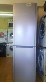 HOTPOINT 55cm silver Fridge Freezer new ex display which may have minor marks or blemishes.