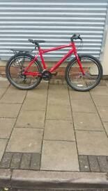 "Red Carrera Axle Urban Bike, 27.5"" Wheels, 21 Speed, 21"" Frame"