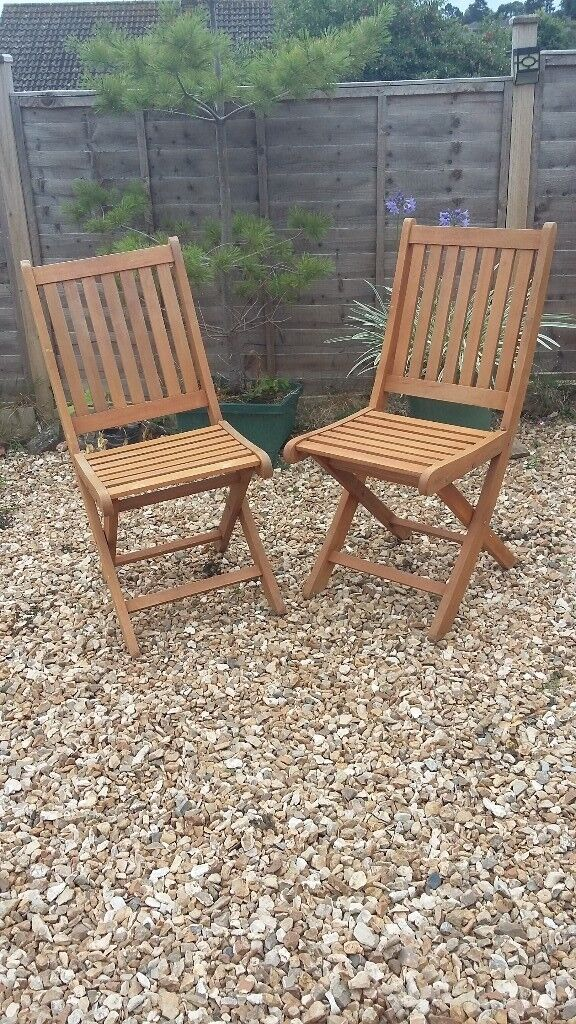 Teak Wood Garden Table and Six Fold up Chairs | in ...