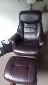 Recliner with matching stool