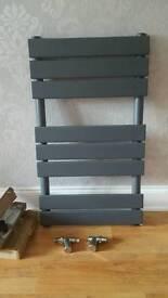 800 x 450 grey anthracite radiator towel rail
