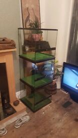 Exo terra stackable lockable vivarium cubes