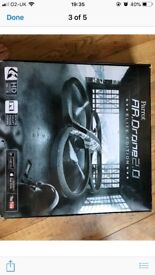 Parrot AR Drone 2.0 Elite Edition HD Camera Smart Phone Black Kids Toy Flying Copter