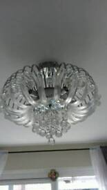 4 Crystol ceiling lights