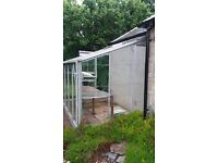 Lean to Greenhouse 8ft x 6ft metal frame good condition