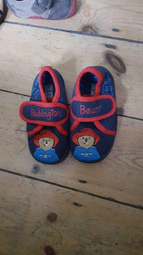 paddington bear slippers from next size 7
