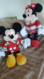 DISNEY STORE MICKEY AND MINNIE MOUSE 2010 SOFT TOYS