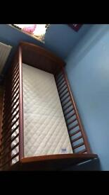Mamas & Papas cot bed with mattress
