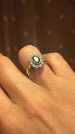 Stunning antique sapphire and diamond ring