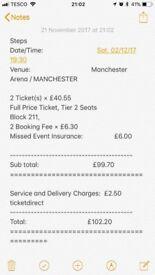 STEPS concert tickets - Manchester 2/12/17