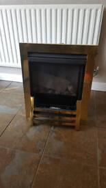 Balanced flue gas fire