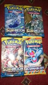 4 pokemon sealed packs sun moon