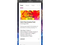 4 day Gold camping CREAMFIELDS ticket