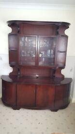 Mahogany Wood Storage Cabinet