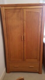 Mamas and Papas Ocean Wardrobe, Cotbed, Chest of Drawers/Change Table and Shelf