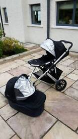 Uppababy pram with cotbed and toddler seat