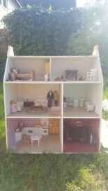 Dollshouse bundle - Includes Furniture & Dolls