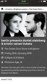 3xBerlin club night Daniel Steinberg +Kristin Velvet jan 26 fri