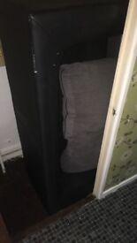 Grey black three seater sofa