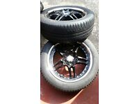 4 Alloy & Chrome Wheels with Michelin Tyres