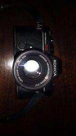 Film SLR camera. Konica autoreflex TC