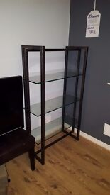 Glass shelving unit good condition