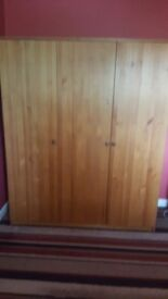 Double and single wardrobe attached and chest of drawers