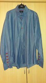 Gents Chambray Blue Shirt