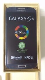 Samsung Galaxy S4 BLACK in a Box with all the Accessories SIM FREE UNLOCKED to All Networks