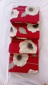 Less than half price brand New red poppy curtains -4 pairs