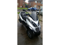 piaggio mp3 125cc low milage,long MOT