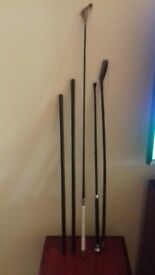 Five vintage riding crops, two as new lather clad examples