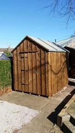 8x6 solid wood shed