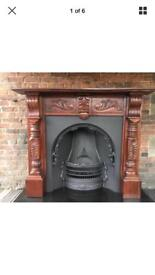 26d stunning refurbished cast iron fireplace and surround FREE DELIVERY