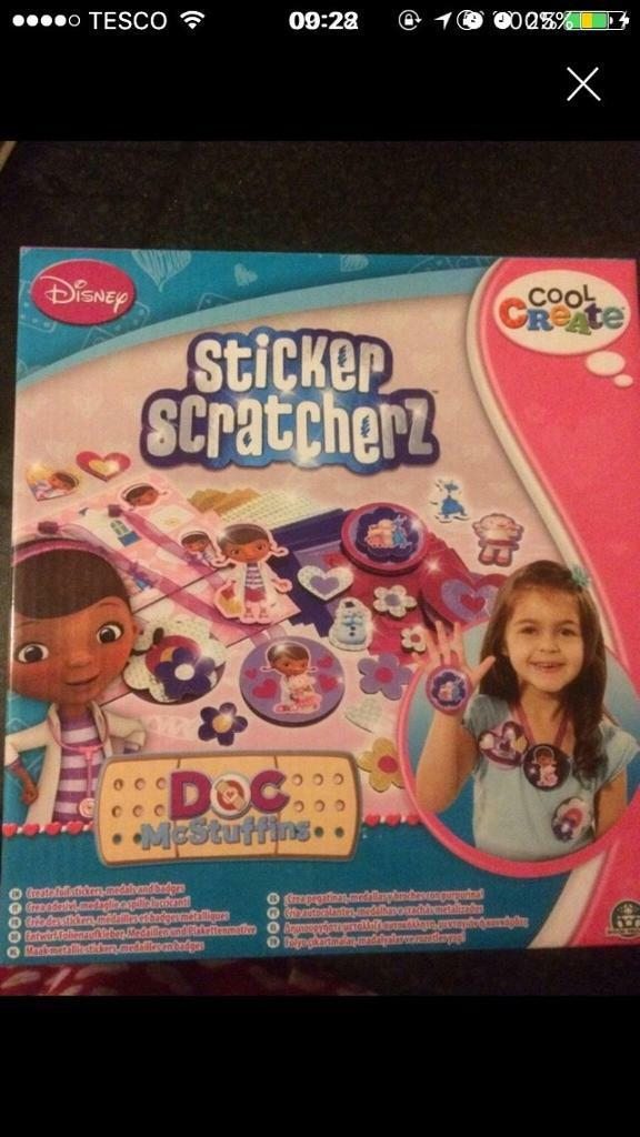 Doc Mcstuffins sticker scratcherz