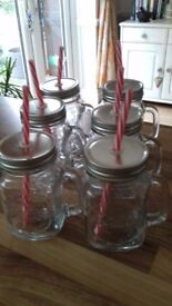 Brand new mason jar style drinking glasses