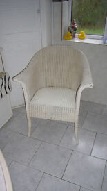 Wicker Work Lloyd Loom Type Chair
