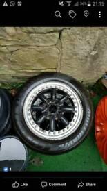 "14"" Black Racing Split Rims - Pair Only"