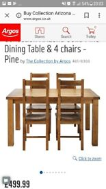 **BRAND NEW** Solid Pine Table and Chairs