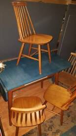 Original Mid Century Formica Table & Ercol Chairs