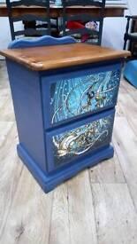 Steampunk Fish Design Bedside Cabinet