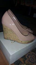 Nude pink wedges/heels NEW