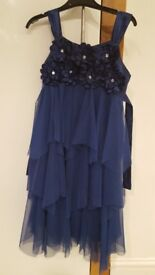 Lovely royal blue girls party dress age 10
