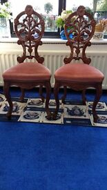 Due to time wasters, re-listing 2 italian designed dining rooms chairs.