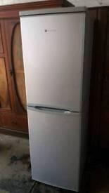Hoover silver fridge freezer