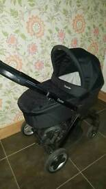 Oyster pushchair pram with carrycot buggy board and maxi cosi carseat adaptors