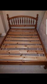 FOR SALE - Wooden Double Bed Frame